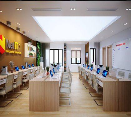Thiết kế nội thất văn phòng làm việc công ty Net IT