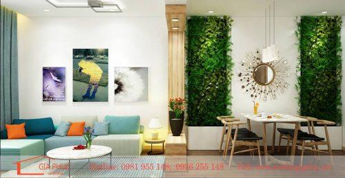 Thiết kế nội thất hiện đại căn hộ 70m2 tại dự án CT1-2 Xuân Đỉnh