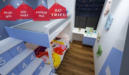Trọn gói thiết kế nội thất phòng kid 20 triệu