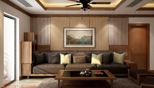 Thi công nội thất căn hộ anh Minh 1205-06 tòa A, 219 Trung Kính