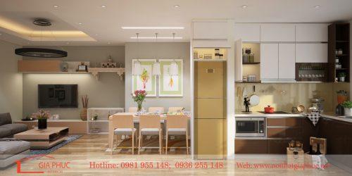 Thiết kế căn hộ chị Linh-2305-18T7 Trung Hòa