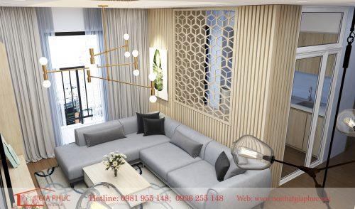 Thiết kế căn hộ anh Tiến 1604-90 Nguyễn Tuân