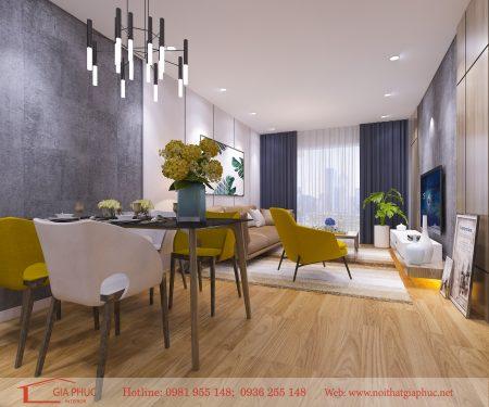 Thiết kế căn hộ 1008 The Two – Gamuda City