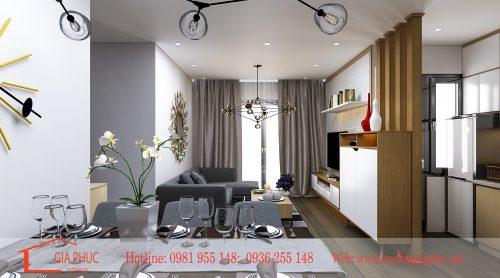 Thi công nội thất căn hộ 1204-CT1 Chung cư 789 Ngoại Giao Đoàn