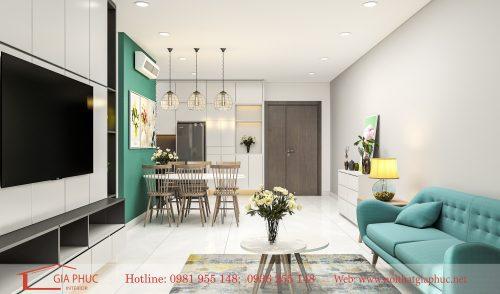 Thiết kế nội thất căn hộ 2004-N03T3A-Ngoại giao đoàn