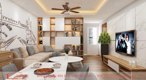 Thiết kế và thi công nội thất căn hộ FLC Đại Mỗ(1402)