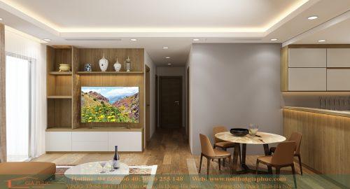 Thiết kế nội thất Time city (2503-tòa T6)