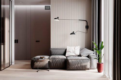 Căn nhà trung tính hiện đại với điểm nhấn nổi bật